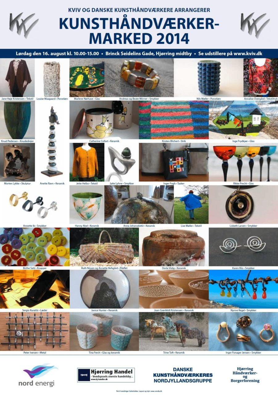 Invitation til Kunsthåndværkermarked 2014