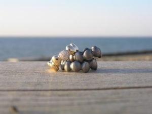 Stepstone i guld og sølv med brilanter